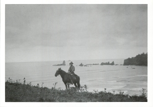 The postcard sent by Oswald West to Chester Armstrong.
